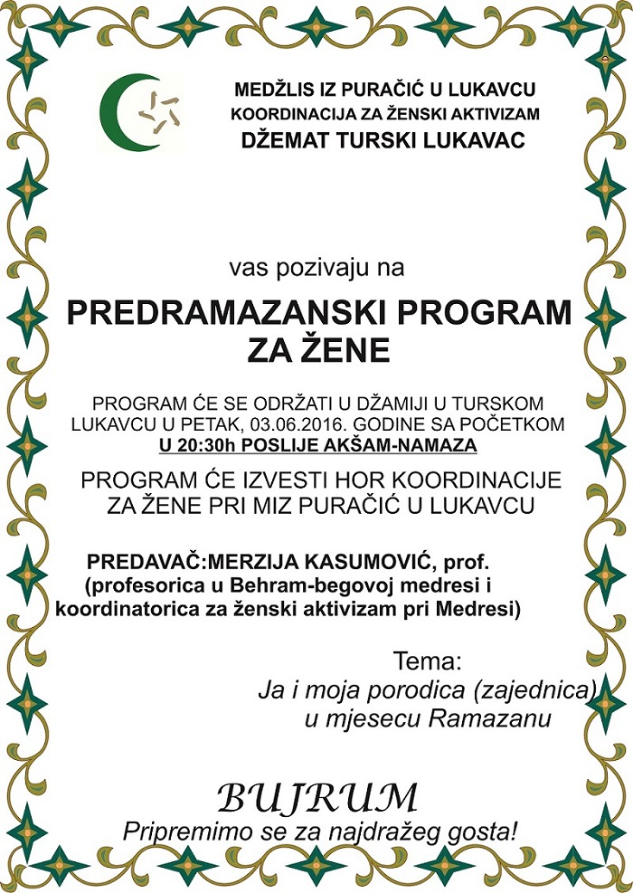 Predramazanski program za zene