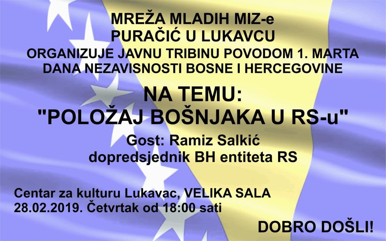 Javna tribina: Položaj Bošnjaka u RS-u
